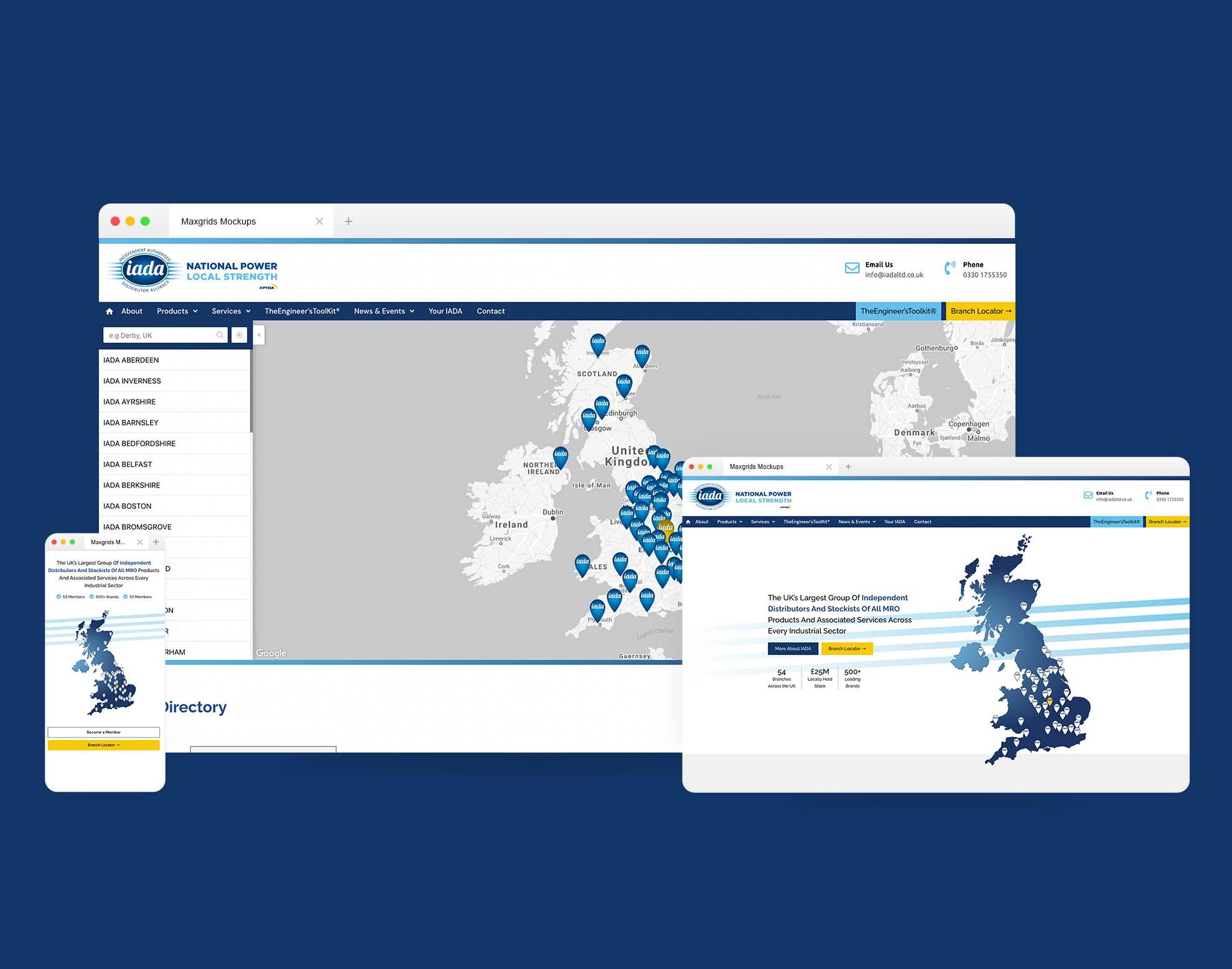 new website for IADA by dotwall